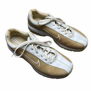 NIKE Air Vintage Tan/White Golf Shoes Size 9/26 cm